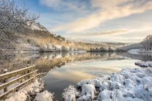 Rydal, Lake District in winter snow