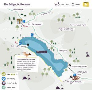 The Bridge, Buttermere beer garden map